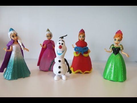 FROZEN Play Doh Dress for Elza Anna and Olaf