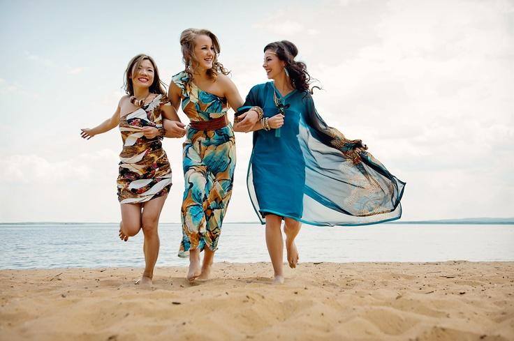 Beautiful McMurray Girls, Robin, Hannah, and Jhoyli at Gregoire Lake. Photo: JM Photography