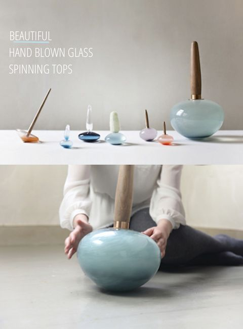 amazing hand blown spinning tops