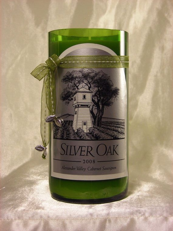 ❤️Silver Oak Wine Bottle Candle by WineToWax on Etsy https://   I have also seen CocaCola bottles become candles www.etsy.com/listing/179160680/silver-oak-wine-bottle-candle