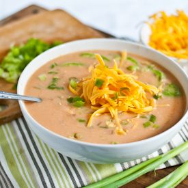 Spicy Slow Cooker Buffalo Chicken Soup-- Everyone will go crazy for this easy to make, gluten free soup!