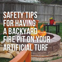 Safety Tips For Having A Backyard Fire Pit On Your Artificial Turf Fire Pit Backyard Turf Fire Pit