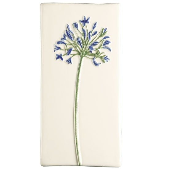 The Winchester Tile Company Agapanthus wall tile | Kitchen wall tiles - 10 motif designs | Kitchen ideas | Beautiful Kitchens | Housetohome | PHOTOGALLERY