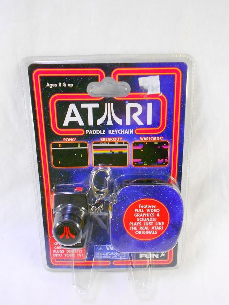 Tv Games Plug Into : Atari paddle keychain pong breakout warlords pocket