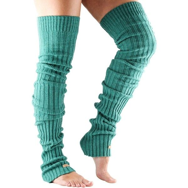 Toesox Thigh High Leg Warmers (130 SAR) ❤ liked on Polyvore featuring intimates, hosiery, toesox, thigh high leg warmers, yoga leg warmers and thigh high hosiery