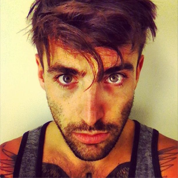 Jacob Hoggard from Hedley I love eyes. I love his eyes. I love how they are more than just a big mask of fakeness. They are there. They are fighting to stay alive and that's the beauty. He's wining the fight an there's this light behind his eyes...