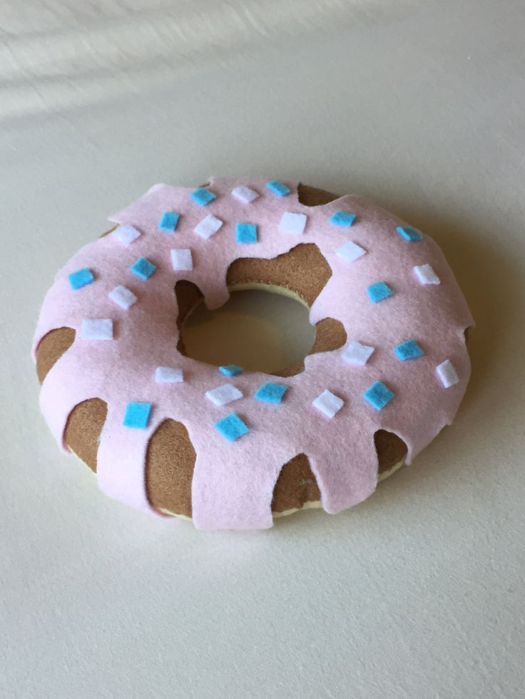 Hand-Stitched Felt Ring Doughnut Plush (4.94 GBP) by TandemCreations