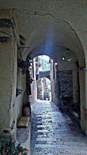 Light in the alley  Verezzi. Italia