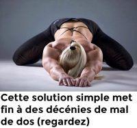 Cette solution simple met fin à des décennies de mal de dos (regardez