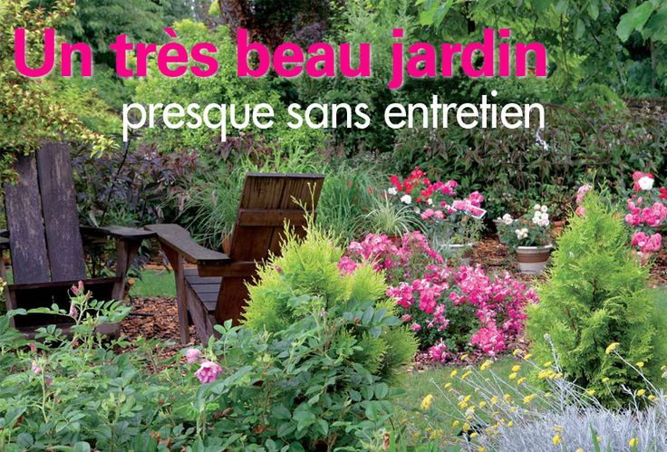 jardin presque sans entretien