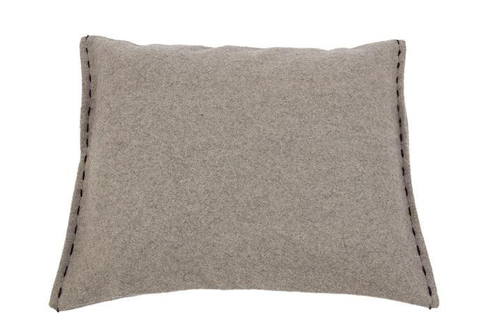 MrsBLOOM: Cushion Gstaad naturel/dark brown 50x40