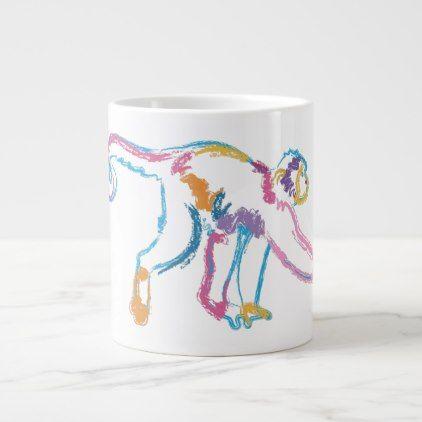 Rainbow Monkey Giant Coffee Mug - animal gift ideas animals and pets diy customize