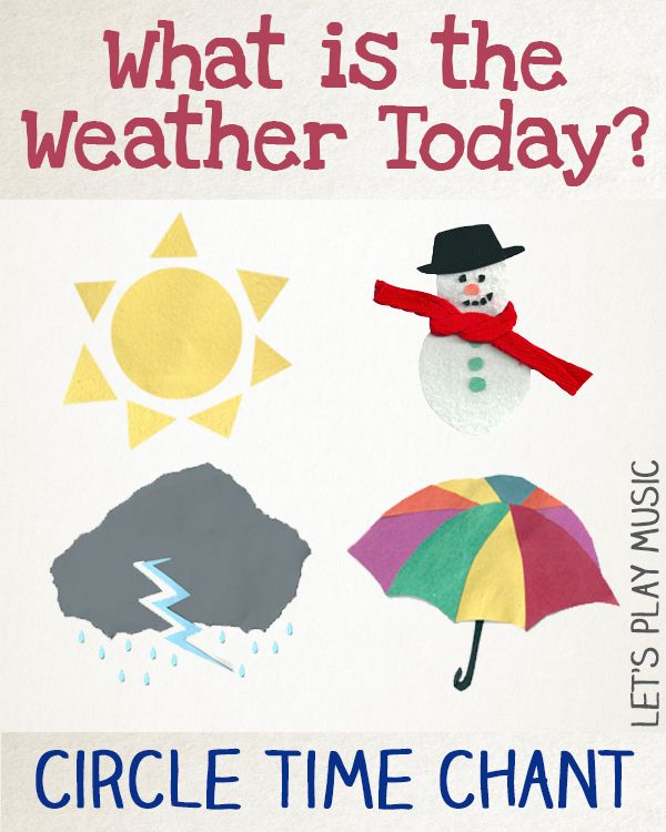 Simple Weather Song for Preschool Circle Time