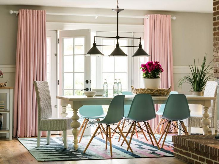 20 Top Window Treatment Trends Bay DrapesPink Dining RoomsLarge