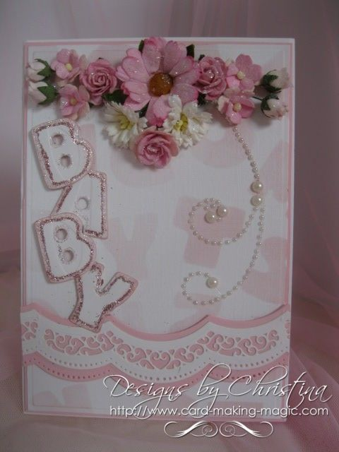 card by Christina Griffiths: Baby'S Children, Crafts Ideas, Cards Ideas, Baby Cards, Alphabet Backgrounds, Cards Baby, Cards Crafts, Babycards, Paper Crafts