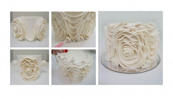 Tutorial: Vintage Ruffle Cake