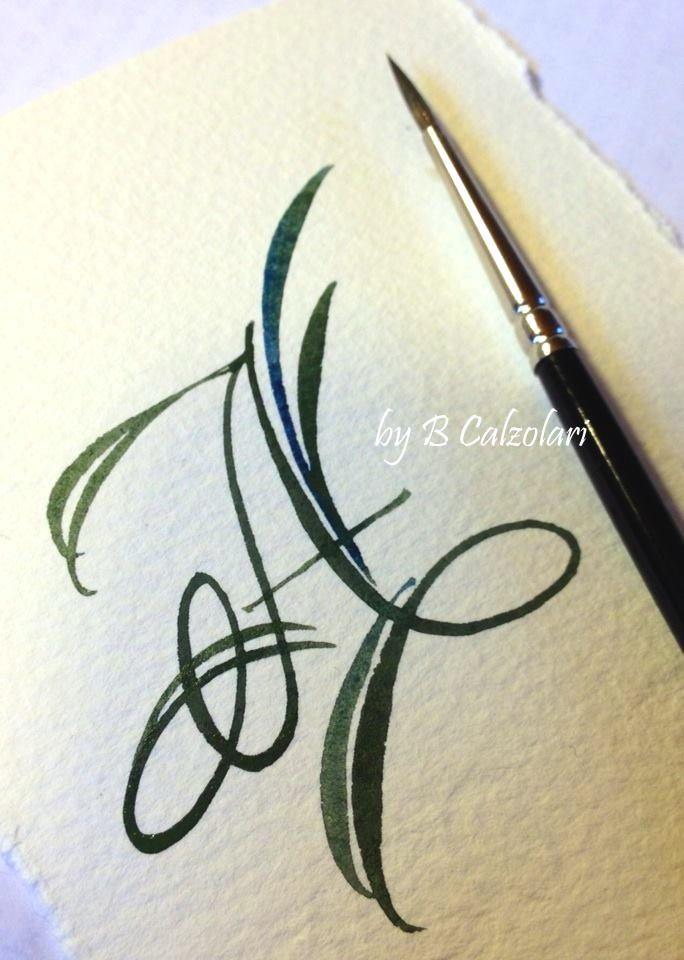 beautiful brush work by B Calzolari #lettering