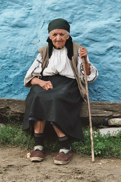 Romania- this woman has worked hard and lived a good life- look at her hands. I would bet she has a spotless home, a garden and geese.