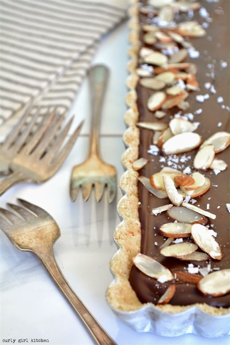 ... Chocolate Almond Tart | Sweet treats | Pinterest | Curly Girl, Tarts