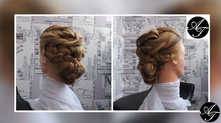 """Идея вечерней прически для длинных волос. Мастер класс прически """"Греческой богини""""."""