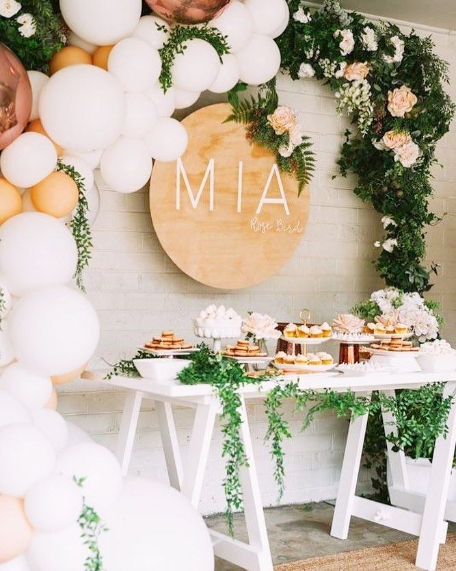 Organising My Friend S Party And Seeing This Stunning Party Inspiration On Pinterest Who Like This M Birthday Party Desserts Wedding Balloons Pastel Balloons