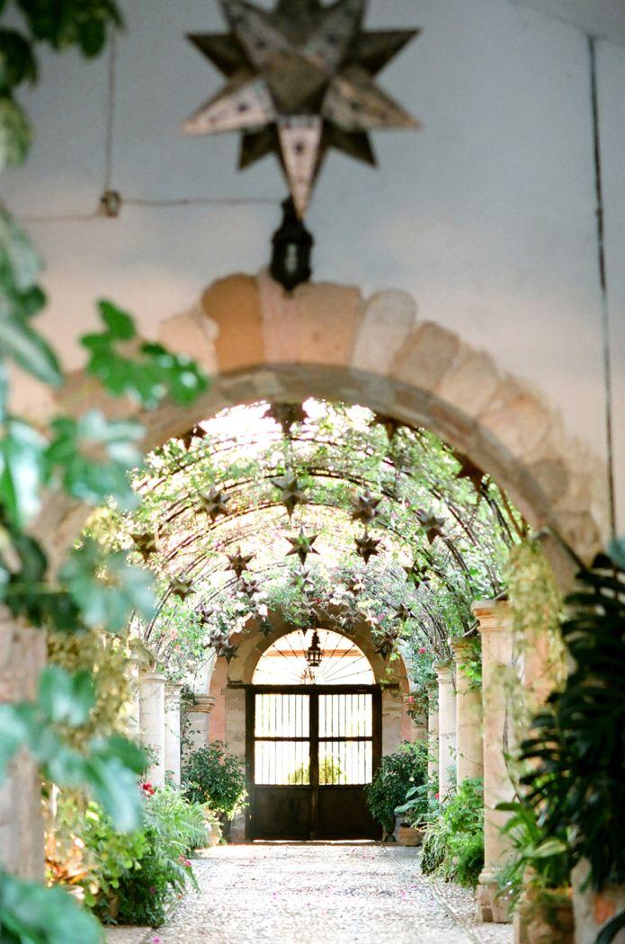 Hacienda las trancas courtyard san miguel walkways and for Hacienda style lighting