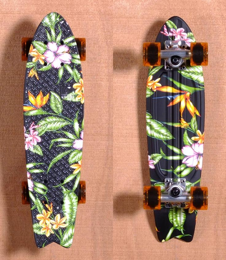 globe skateboards floral