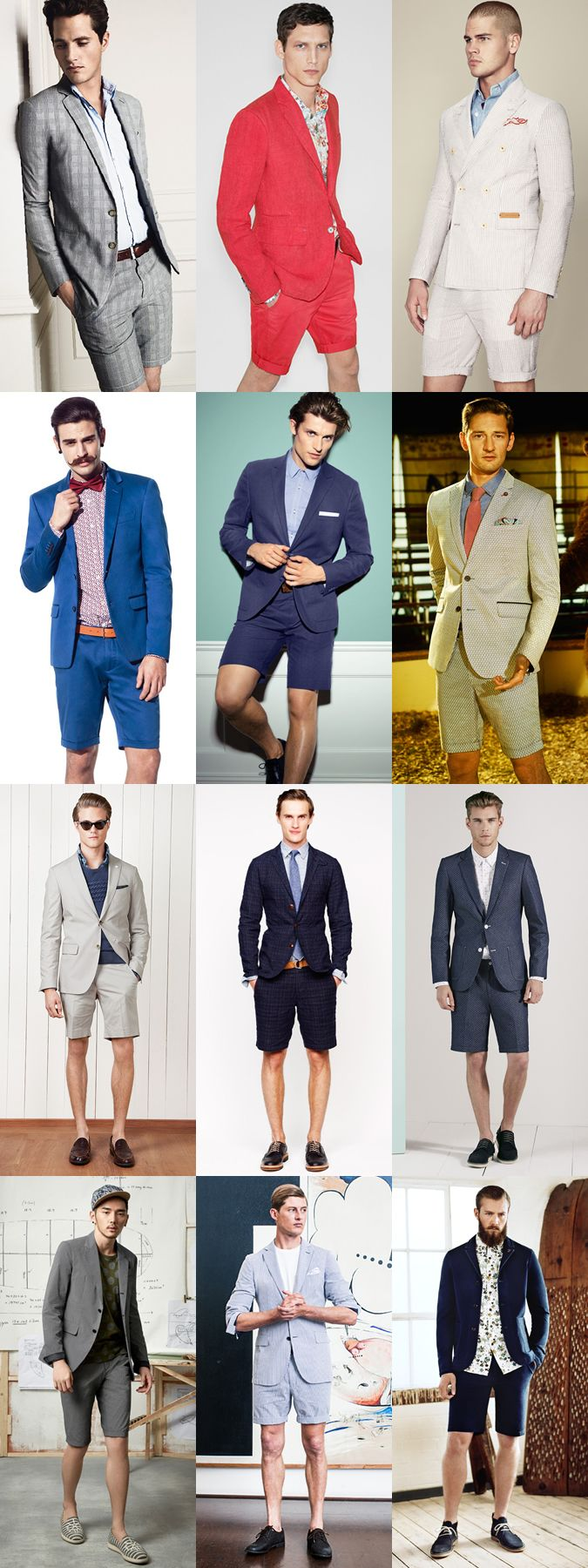The Matching Short Suit Lookbook Inspiration