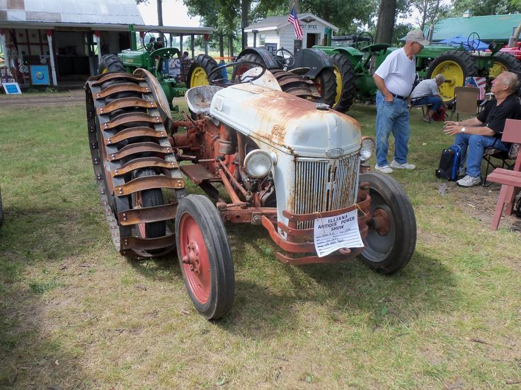 Old Tractor With Tracks : Best images about old ford tractors on pinterest