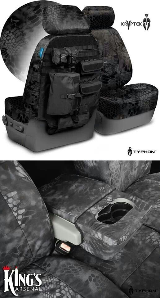 Tactical seat covers- want this for my truck! I like these better