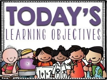 how to set learning objectives