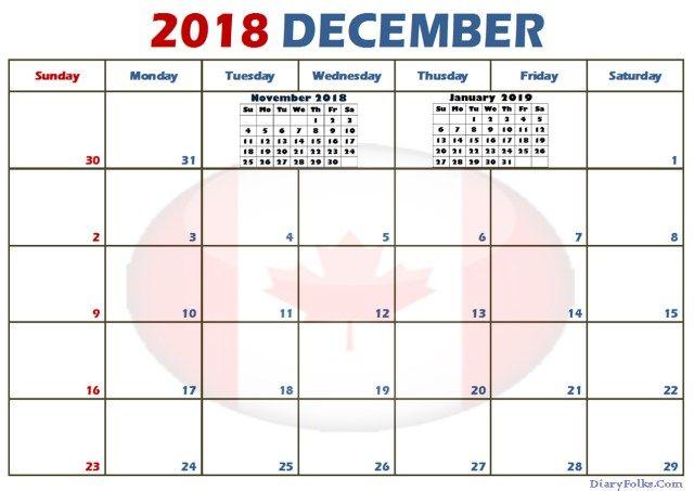 Free December 2018 Calendar Template December 2018 Calendar