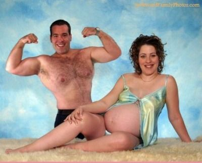 """The Most Awkward Pregnancy Photos Ever {showing #1 of 17} Nothing is more beautiful than a tasteful portrait of a pregnant belly, but these strange maternity photos made us wonder, """"What were they thinking?"""" For more wacky, funny family pictures, visit AwkwardFamilyPhotos.com"""