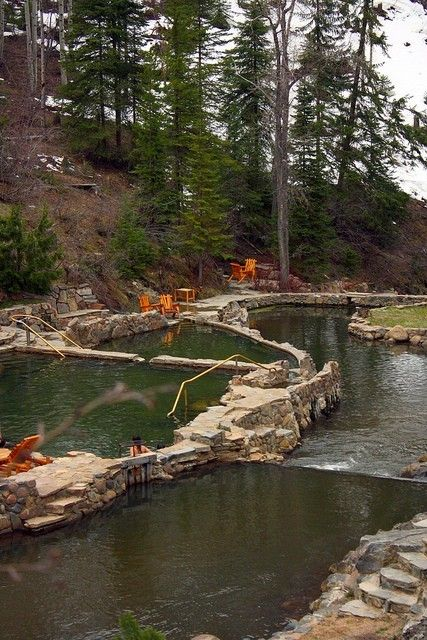 Strawberry Park Hot Springs, Steamboat Springs, CO. I can't believe I've never been here and I live in CO. next on my list