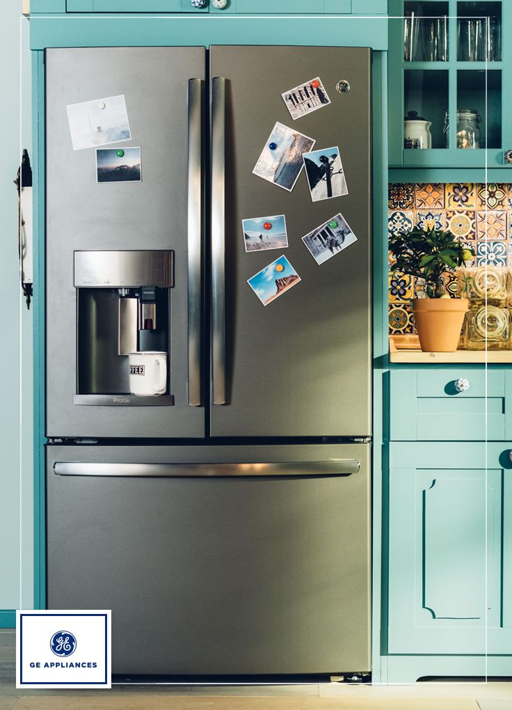 a fridge with a builtin keurig coffee brewer learn about ge french door with keurig kcup brewer and innovative dispenser features