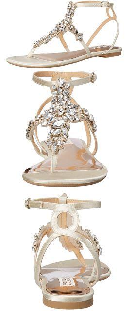 Bridal sandals Badgley Mischka Women's Cara Dress Sandal $175.00 & FREE Returns. #weddingshoes #bridalshoes