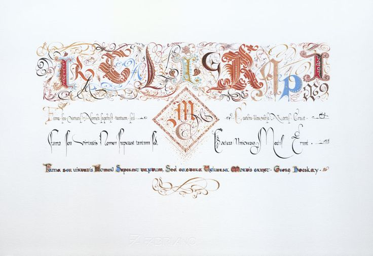 Mira calligraphiae (Hommage à Georg Bocskay)