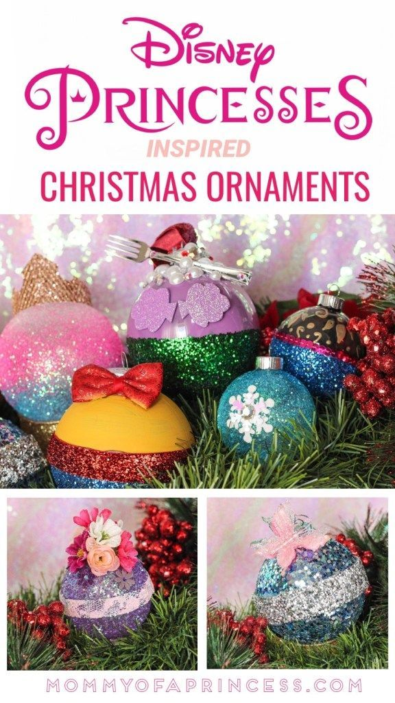 Easy Diy Disney Ornament For Christmas Inspired By Disney Princesses With Images Disney Ornaments Diy Disney Christmas Ornaments Disney Christmas Crafts