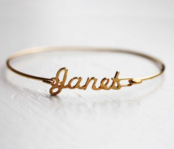 Vintage Name Bracelet. Would be cool to get the kids' names.