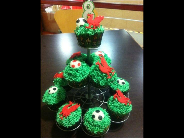 Football cupcakes!
