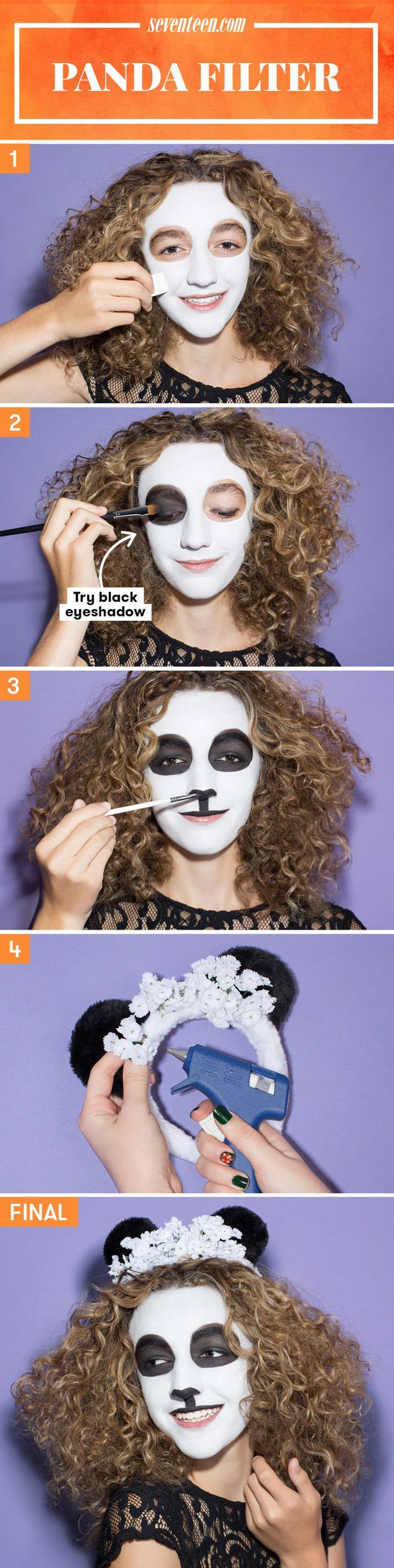 Because who doesn't love pandas?? #Halloween #Makeup