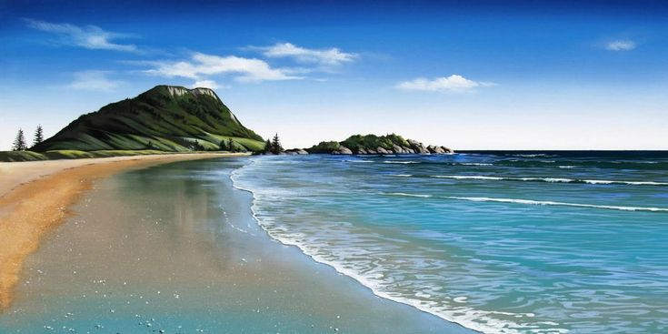 Mount Maunganui Canvas Art Print by Linelle Stacey