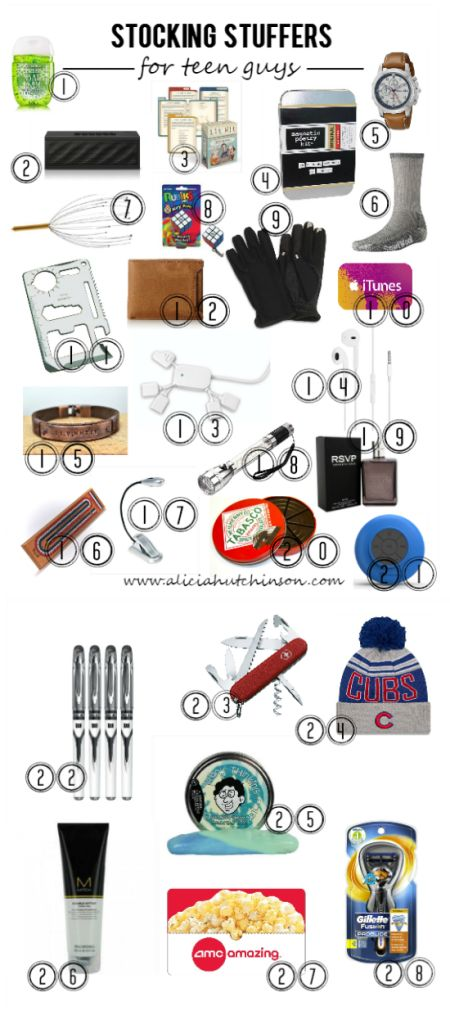 I find girls easier to shop for than my boys--especially my teen boy. I put my thinking cap on and thought up a HUGE list of stocking stuffers for the teen guy in your life that loves sports, reading, games, tech stuff, and more. A little bit of everythin