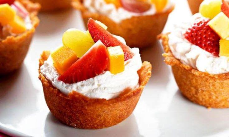 Dica de sobremesa: Cestas de Cereais com Frutas!
