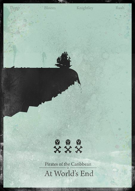 Pirates of the Caribbean : At World's End - minimalist poster by H. Svanegaard, via Flickr