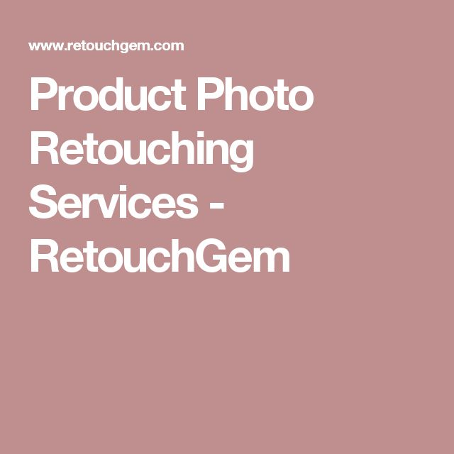 Product Photo Retouching Services - RetouchGem