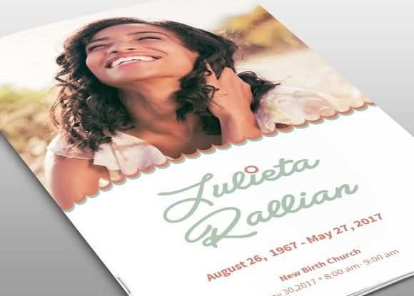Atelas Funeral Program Template by loswl on @creativemarket