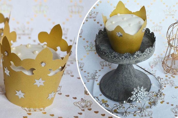 Cupcakes des rois originale à la frangipane pour l'épiphanie de façon différente et remplacer la traditionnelle galette des rois par un joli cupcake