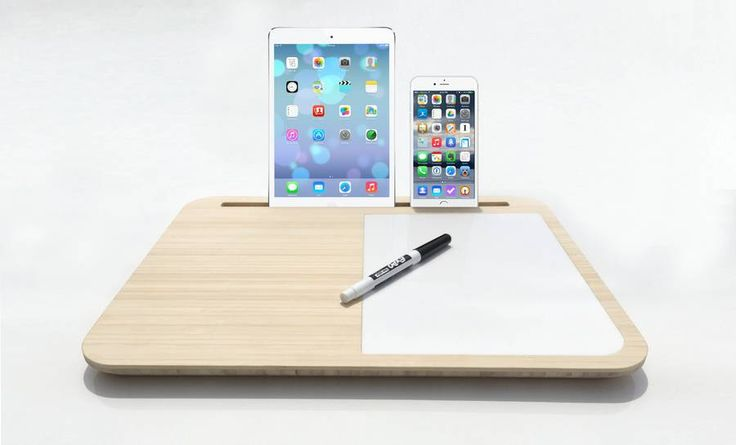 Minimalist Lap Desk to Hold Portable Divices
