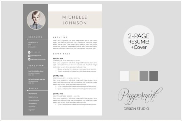 modern cv   cover letter by pappermint    textycafe com  best